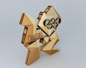 3D model London 2012 Gold Logo