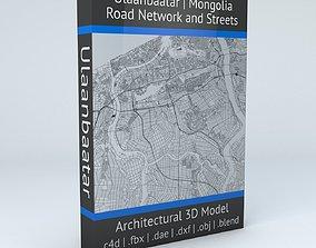 Ulaanbaatar Road Network and Streets 3D model
