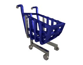 3D asset Shopping Cart v1 006