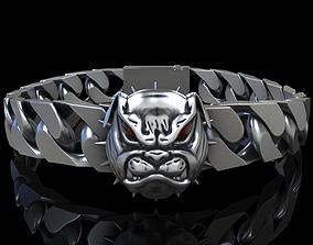 Angry Bulldog bracelet 3D printable model
