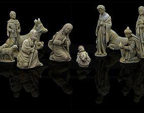 Christmas nativity figurines Set 3D Printable 3D