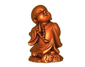 diamond 3D print model Buddhist monk