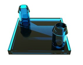 3D printable model CPU water cooling detail
