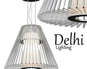 3D model Golden Lighting Delhi 7 Light Chrome Chandelier