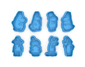 Moomin Trolls cookie cutters 3D printable model