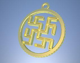 3D printable model Slavic pagan amulet Cvetok Paportnika
