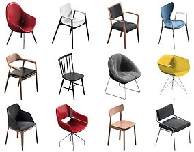 set 3D 12 Chair Pack Collection