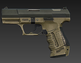 Walther P99 - Game mesh 3D asset