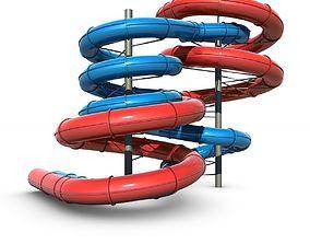 3D model Aquapark Slides