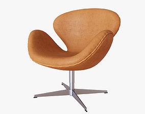 3D Swan Chair Fritz Hansen Nubuck Leather