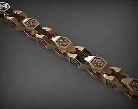 Chain Link 79 3D print model bracelet