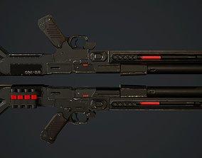 SCI-FI Shotgun 3D asset