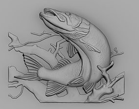 Pike fish 3D printable model