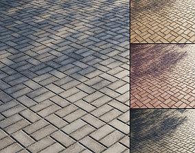 3D Concrete paving slabs Type 7