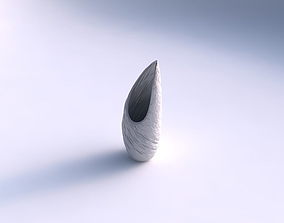 Vase Tsunami with twisted rocky bulges 3D printable model