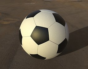 3D model Soccer Ball - real dimension for size 5