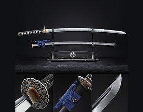 3D model Katana japanese sword blade