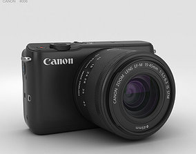 camera Canon EOS M10 Black 3D model
