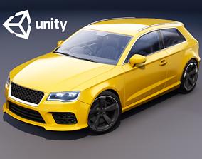 Realistic Car HD 03 3D asset rigged