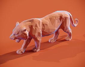 Low poly Tiger Papercraft 3D printable model