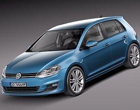 Volkswagen Golf 7 2013 5-Door 3D