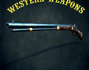 Winchester model 1873 3D asset