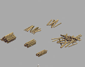 3D flowers Lumberyard - Woodpile 03