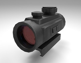 Red Dot - CQB Sight - Weapon Attachment - PBR 3D asset