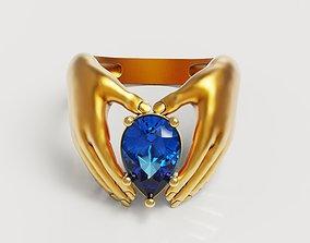 3D print model Pear hand ring