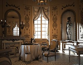 Royal Dining Room Scene 3D