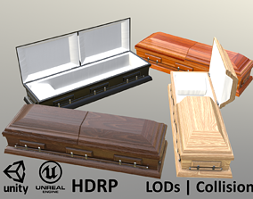 3D Wooden Caskets - 4 versions