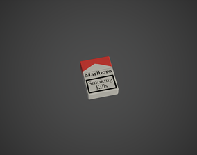 3D model Cigarettes Pack Low Poly Game Ready