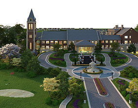 3D house Villa 015