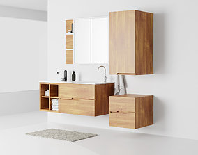 3D model Bathroom Furniture Set wooden
