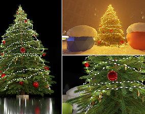 Lowpoly Christmas Tree Indoor Version 3D model