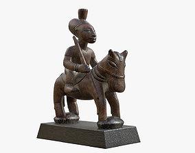 Figurine Horseman 3D model realtime