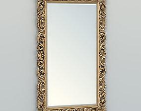 3D model Rectangle mirror frame 013 wall