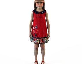 childrens 3D Girl dress t shirt skirt Baby clothes