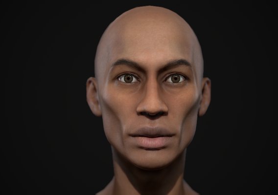 Black skinny man