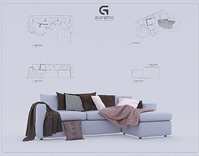 rigged Sofa Revit High Quality 3D models houseware
