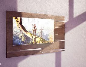 3D model Low Poly TV Panel ArchViz - Game Ready