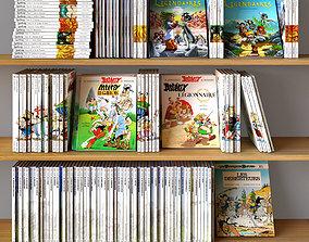 Books Set 05 Comics library 3D
