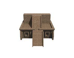 Mayan temple 3D asset VR / AR ready