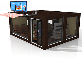 3D model Container Grocery Store
