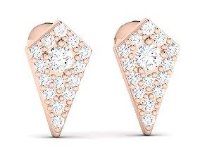 drops white Women earrings 3dm render detail