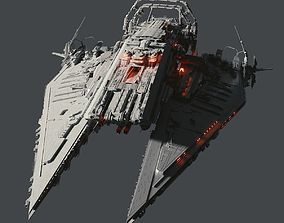 Heavy Detailed Starship 3D