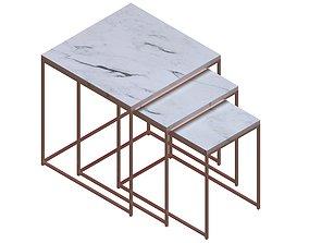 Nesting Table 3D indoor