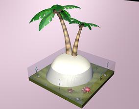 3D asset Desert Island Diorama