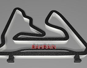 F1 Bahrain Racing Track Decor STL File 3D print model 2