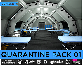 Quarantine Asset Pack low-poly